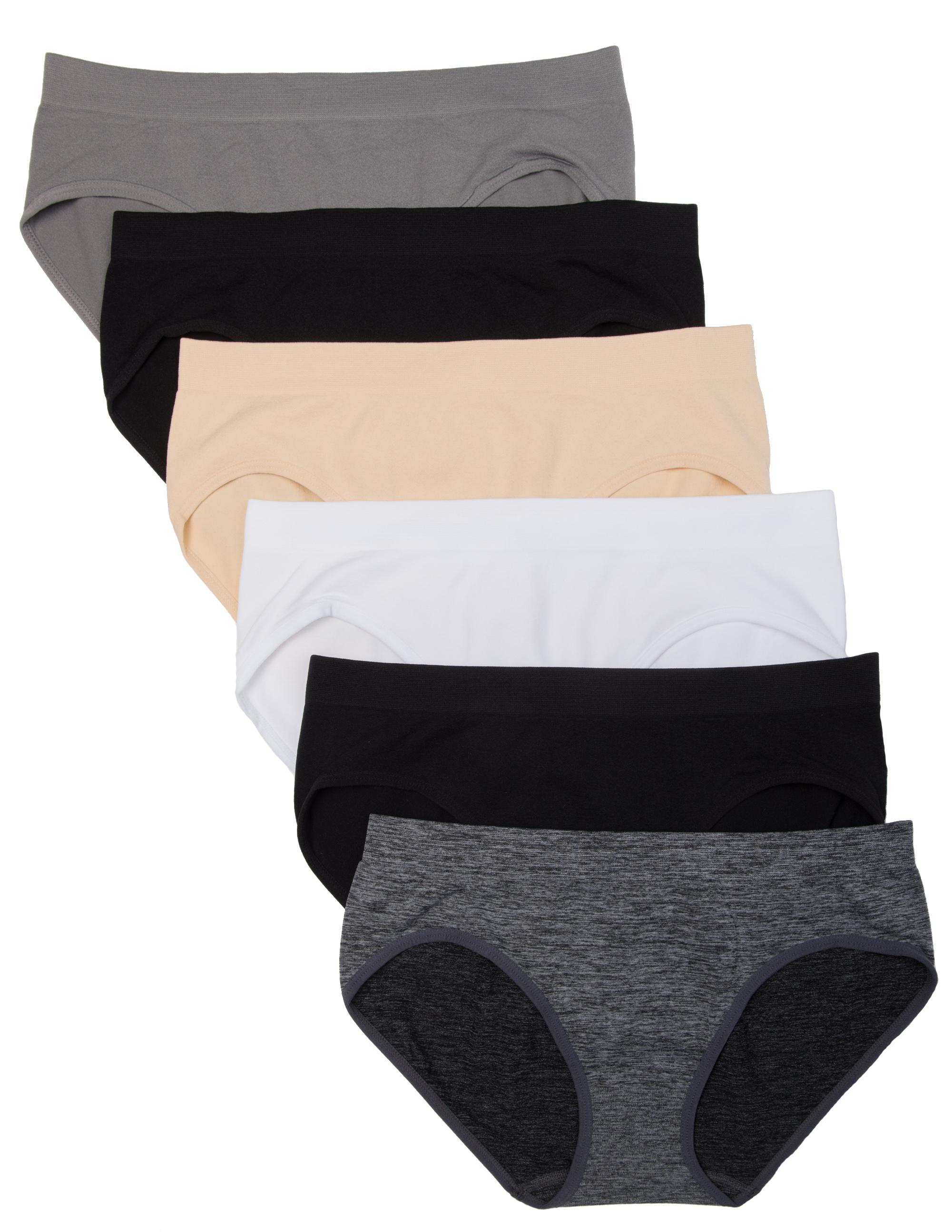 6 Pack Kalon Women's Hipster Brief Nylon Spandex Underwear ...
